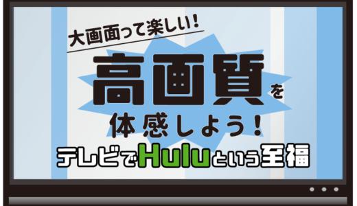 【Huluをテレビで見る方法】値段順に全て紹介!オススメはFireTVStick