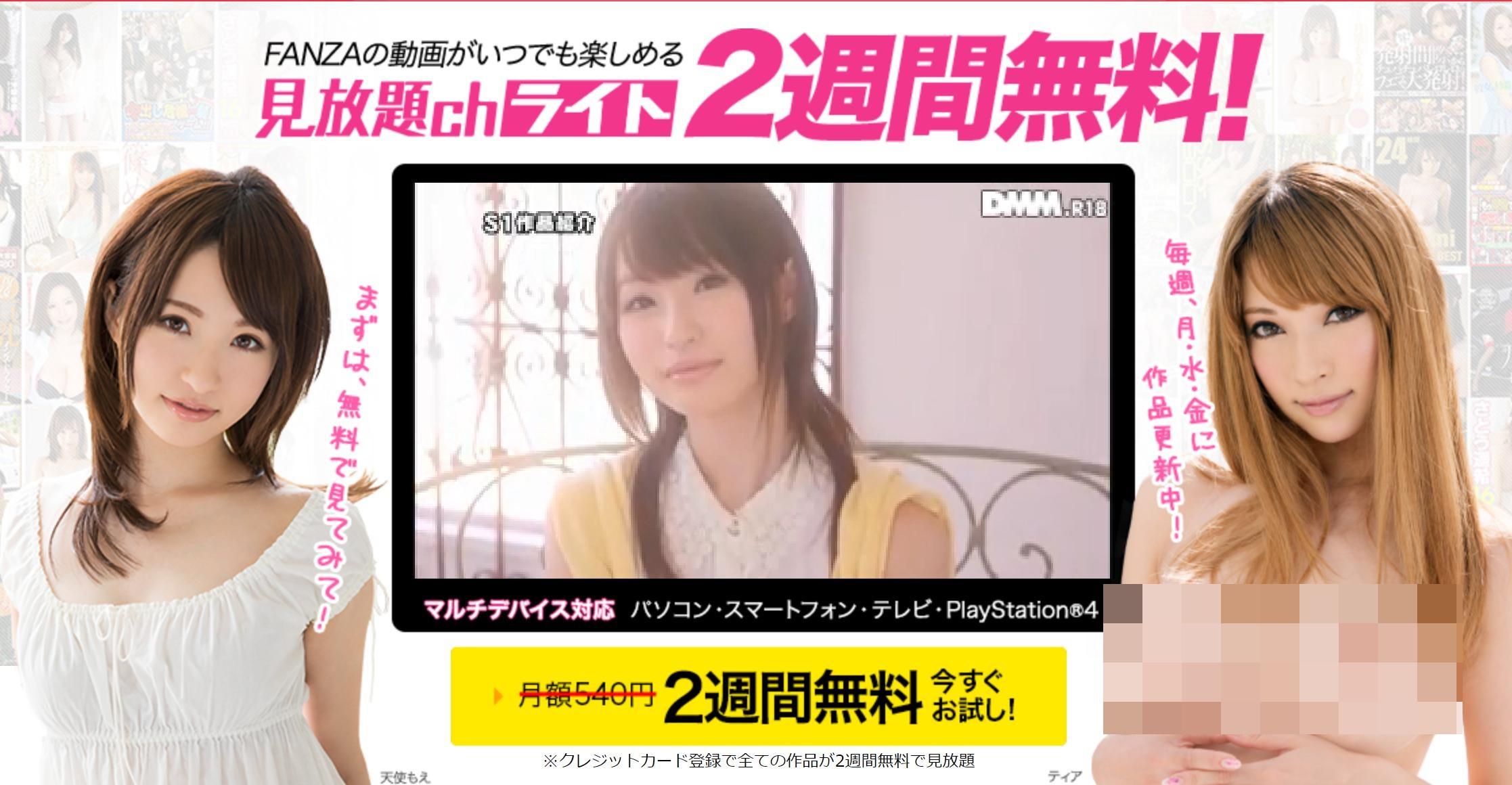 FANZAは500円で見放題!
