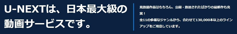 日本最大級の動画サービス テキスト