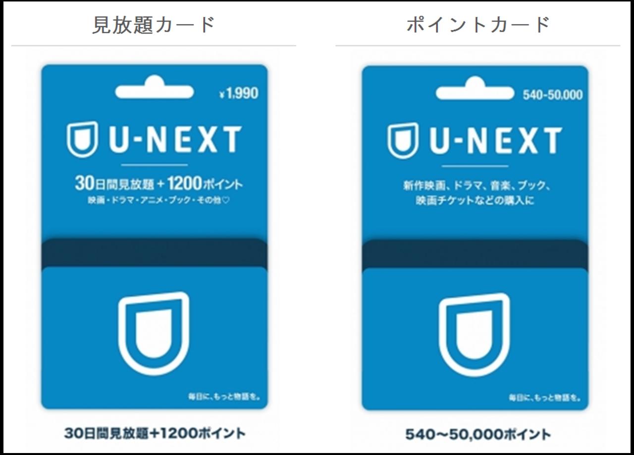 U-NEXTカードの種類