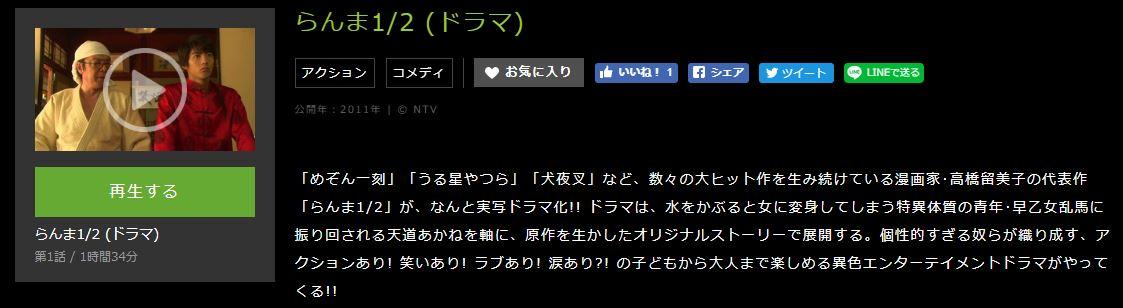 らんま1/2 (ドラマ)あらすじ