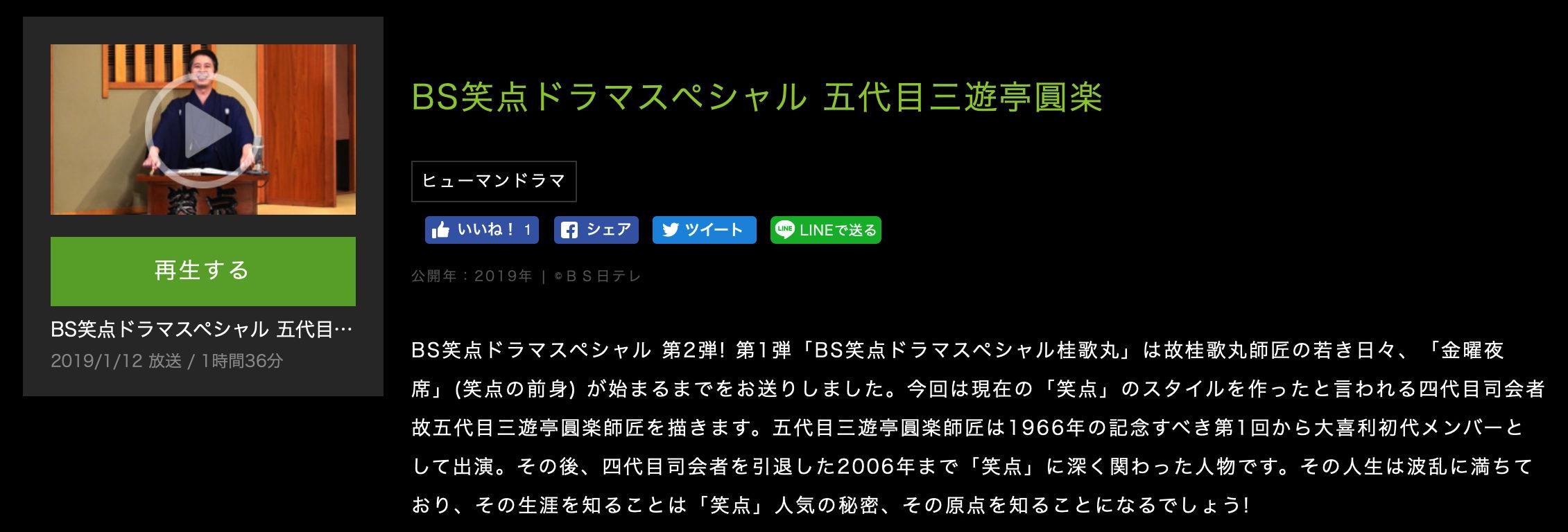 BS笑点ドラマスペシャル 五代目三遊亭圓楽あらすじ