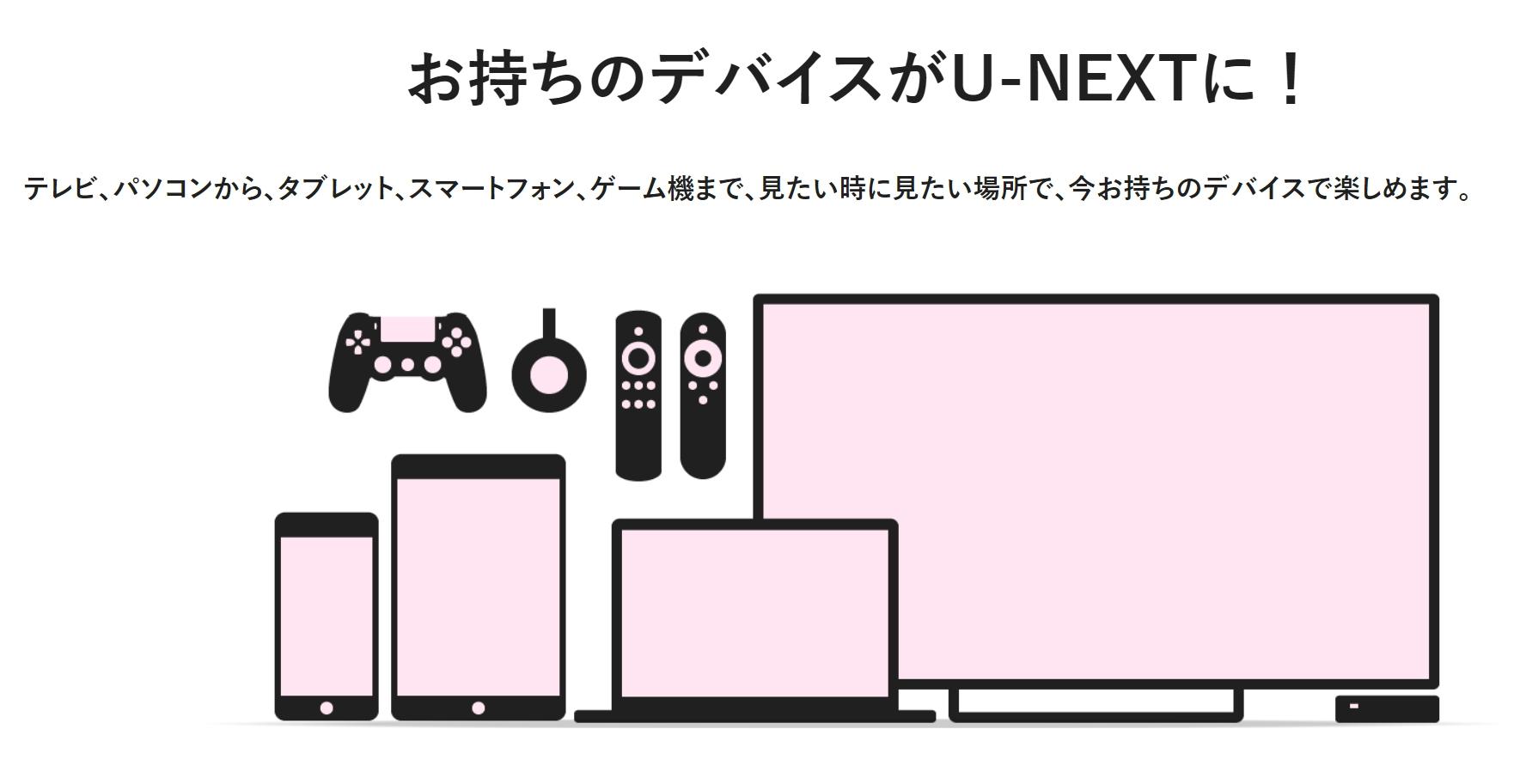 U-NEXTはマルチデバイスに対応