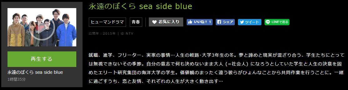 永遠のぼくら sea side blueあらずじ