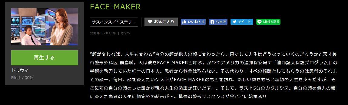 FACE-MAKERあらすじ