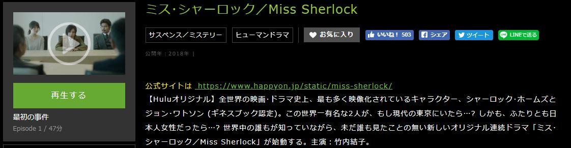 ミス・シャーロック/Miss Sherlockあらすじ