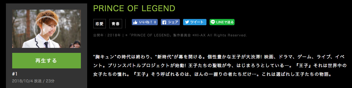 PRINCE OF LEGENDあらすじ