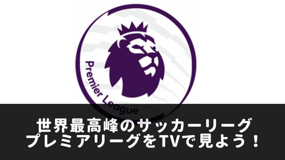 プレミアリーグをテレビで見よう!