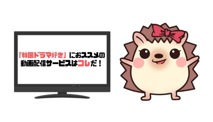 韓国ドラマ好きにおススメの動画配信サービス