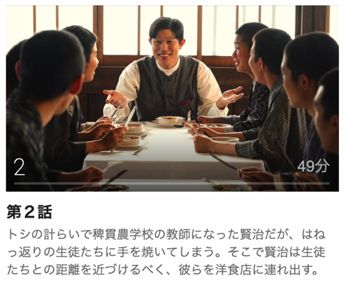宮沢賢治の食卓第2話