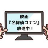 映画名探偵コナンを見れる動画配信サイト