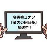 名探偵コナン 業火の向日葵を見れる動画配信サイト